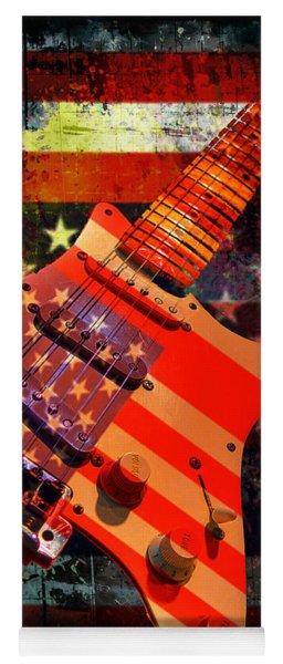 Usa Strat Guitar Music Yoga Mat
