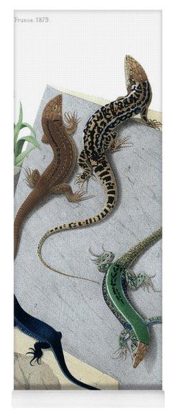 Varieties Of Wall Lizard Yoga Mat
