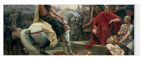 Vercingetorix Throws Down His Arms At The Feet Of Julius Caesar Yoga Mat