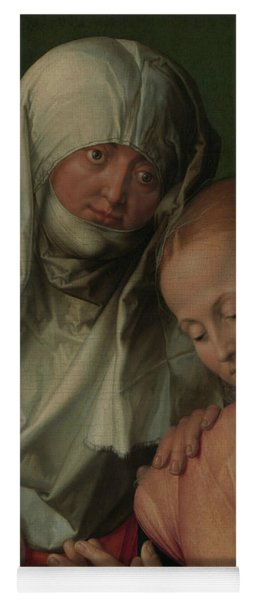 Virgin And Child With Saint Anne Yoga Mat