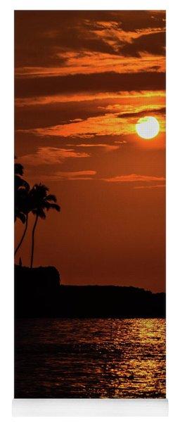 Yoga Mat featuring the photograph Waikoloa Sunset by Pamela Walton