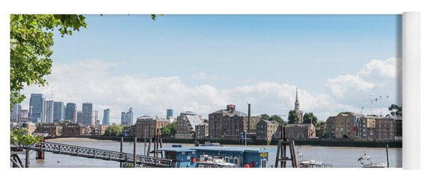 Yoga Mat featuring the photograph Wapping River Police Waterloo Pier by Gary Eason