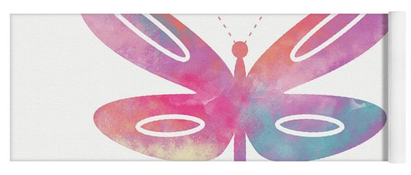 Watercolor Butterfly 2- Art By Linda Woods Yoga Mat