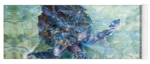 Watercolor Turtle Yoga Mat