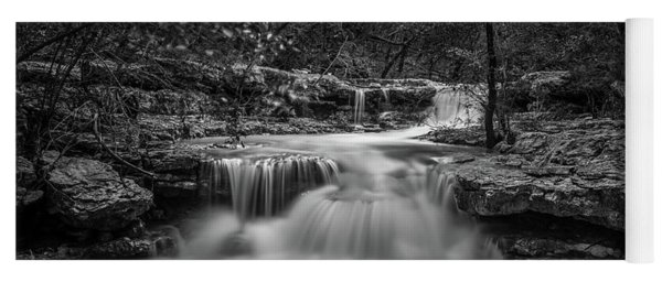 Yoga Mat featuring the photograph Waterfall In Austin Texas by Todd Aaron