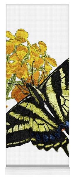 Western Tiger Swallowtail On A Western Wallflower Yoga Mat