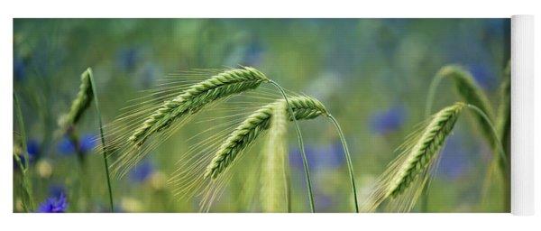 Wheat And Corn Flowers Yoga Mat