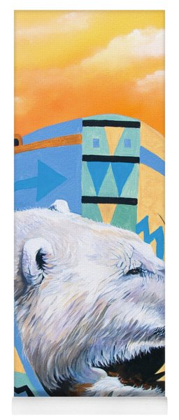 White Bear Goes Southwest Yoga Mat