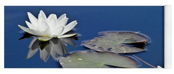 White Water Lily Yoga Mat