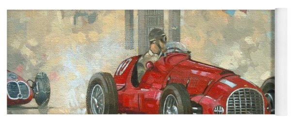 Whitehead's Ferrari Passing The Pavillion - Jersey Yoga Mat