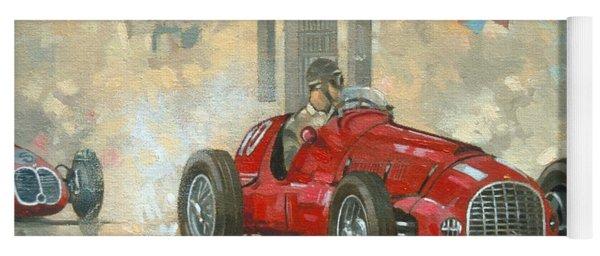 Whitehead's Ferrari Passing The Pavillion - Jersey Yoga Mat