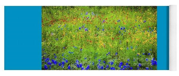 Wildflowers In Bloom Yoga Mat