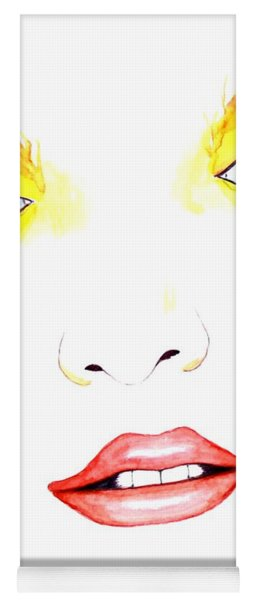 Woman Scent Watercolor Painting Yoga Mat