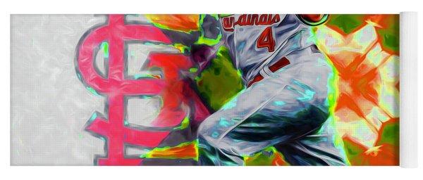 Yadier Molina St. Louis Cardinals Baseball Yoga Mat