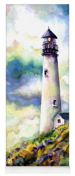 yaquina Head Lighthouse Yoga Mat