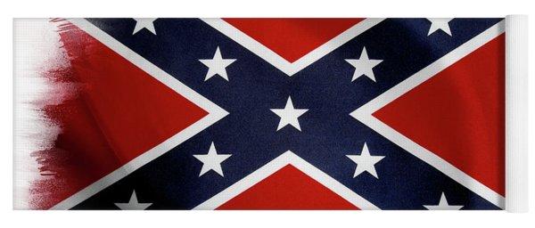 Confederate Flag 10 Yoga Mat