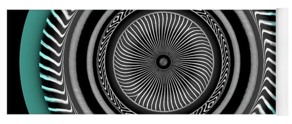 Yoga Mat featuring the digital art 101520171 by Visual Artist Frank Bonilla