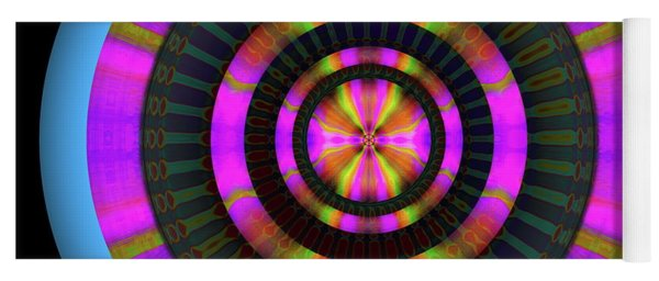 Yoga Mat featuring the digital art 101520179 by Visual Artist Frank Bonilla