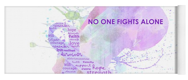 10969 No One Fights Alone Yoga Mat