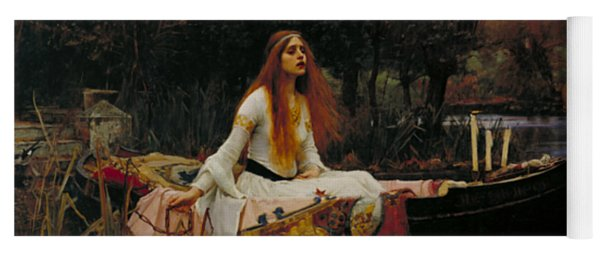 The Lady Of Shalott Yoga Mat