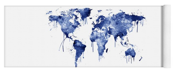 Map of the world yoga mats fine art america watercolor map of the world map yoga mat gumiabroncs Gallery