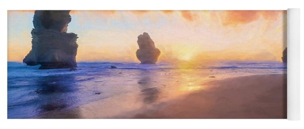 12 Apostles With Marshmallow Skies    Og Yoga Mat