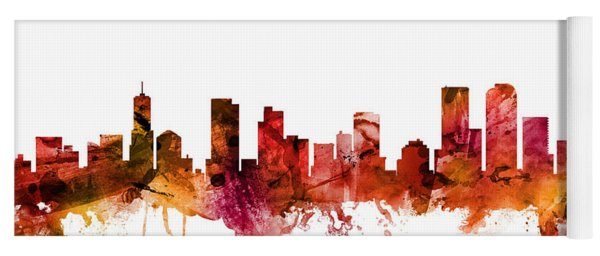 Denver Colorado Skyline Yoga Mat