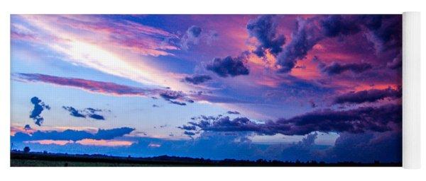 Nebraska Hp Supercell Sunset Yoga Mat