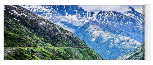 Yoga Mat featuring the photograph White Pass Mountains In British Columbia by Alex Grichenko