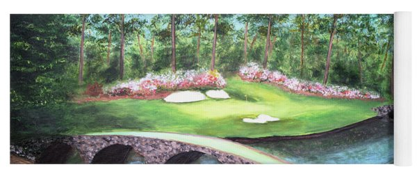 12th Hole At Augusta National Yoga Mat