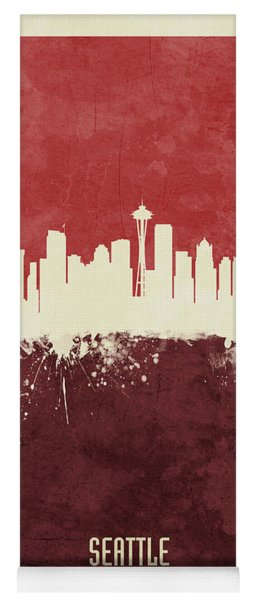 Seattle Washington Skyline Yoga Mat