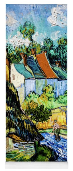 Houses At Auvers Yoga Mat