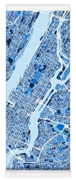 New York City Street Map Yoga Mat