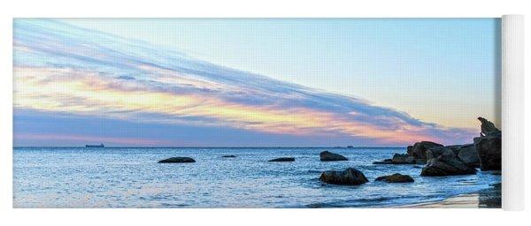 Rocky Daybreak Seascape Yoga Mat