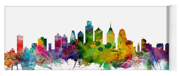 Philadelphia Pennsylvania Skyline Yoga Mat