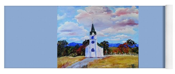 #17 St. Johns Historic Church On Hwy 69 Yoga Mat