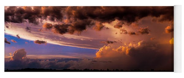 Nebraska Hp Supercell Sunset Yoga Mat
