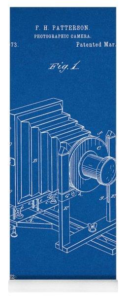 1888 Camera Us Patent Invention Drawing - Blueprint Yoga Mat