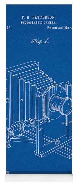 1888 Camera Us Patent Invention Drawing - Blueprint Yoga Mat