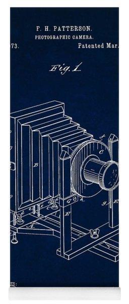 1888 Camera Us Patent Invention Drawing - Dark Blue Yoga Mat