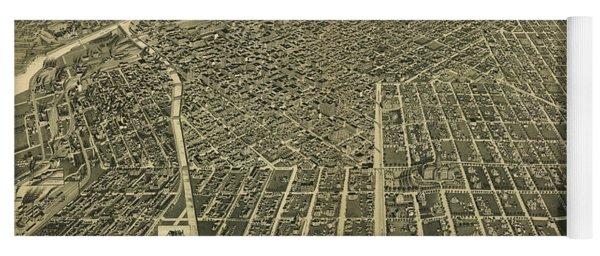 1889 Denver Colorado Map Yoga Mat
