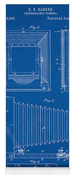 1891 Camera Us Patent Invention Drawing - Blueprint Yoga Mat