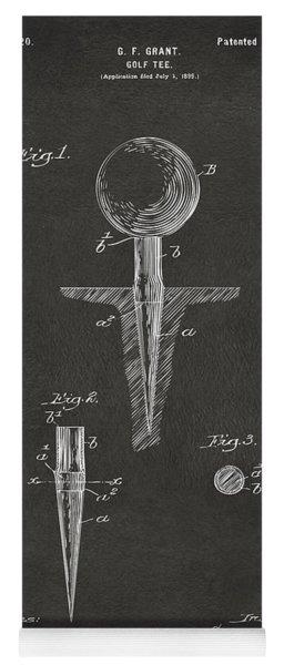 1899 Golf Tee Patent Artwork - Gray Yoga Mat