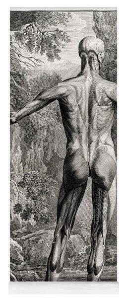 18th Century Anatomical Engraving Yoga Mat