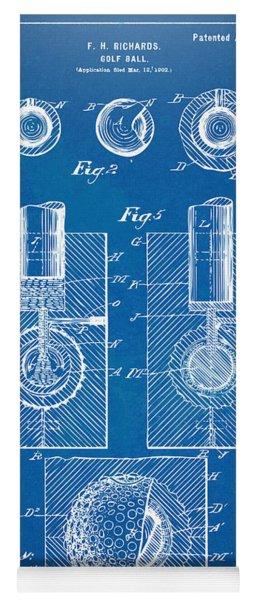 1902 Golf Ball Patent Artwork - Blueprint Yoga Mat