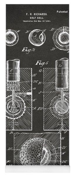 1902 Golf Ball Patent Artwork - Gray Yoga Mat
