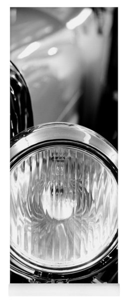 1925 Lincoln Town Car Headlight Yoga Mat