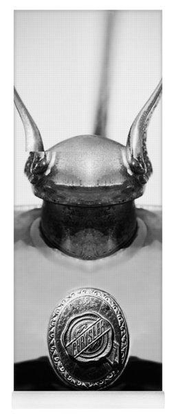 1928 Chrysler Model 72 Deluxe Roadster Hood Ornament - Emblem -0806bw Yoga Mat