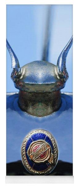 1928 Chrysler Model 72 Deluxe Roadster Hood Ornament - Emblem -0806c Yoga Mat