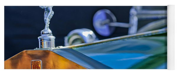1928 Rolls-royce Phantom I Derby Speedster Hood Ornament Yoga Mat
